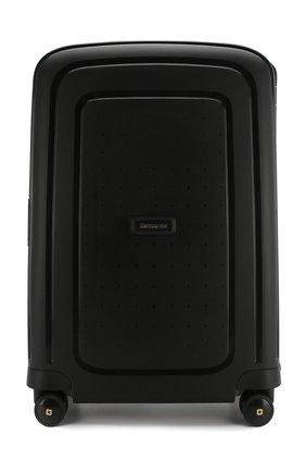 Женский дорожный чемодан s'cure dlx medium SAMSONITE черного цвета, арт. U44-29001 | Фото 1