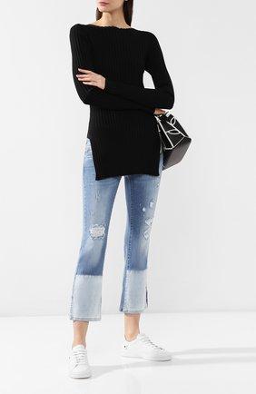 Женские джинсы с эластичным поясом PIETRO BRUNELLI голубого цвета, арт. JPA037/DE0001 | Фото 2