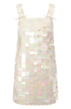 Кожаное платье DROMe бежевое | Фото №1