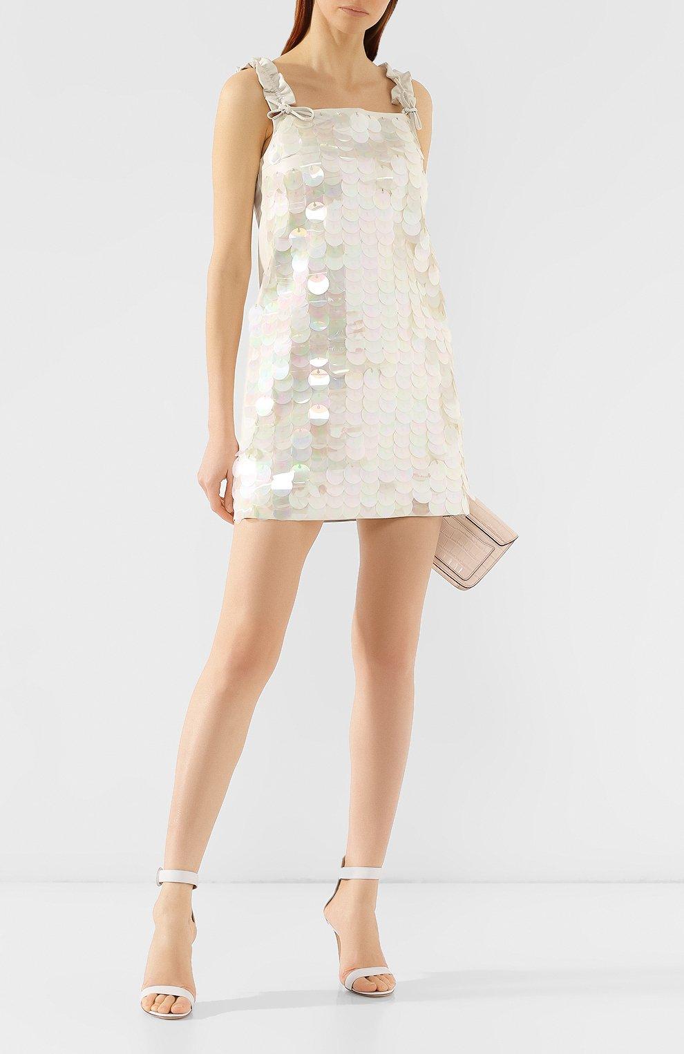 Кожаное платье DROMe бежевое | Фото №2