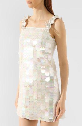 Кожаное платье DROMe бежевое | Фото №3