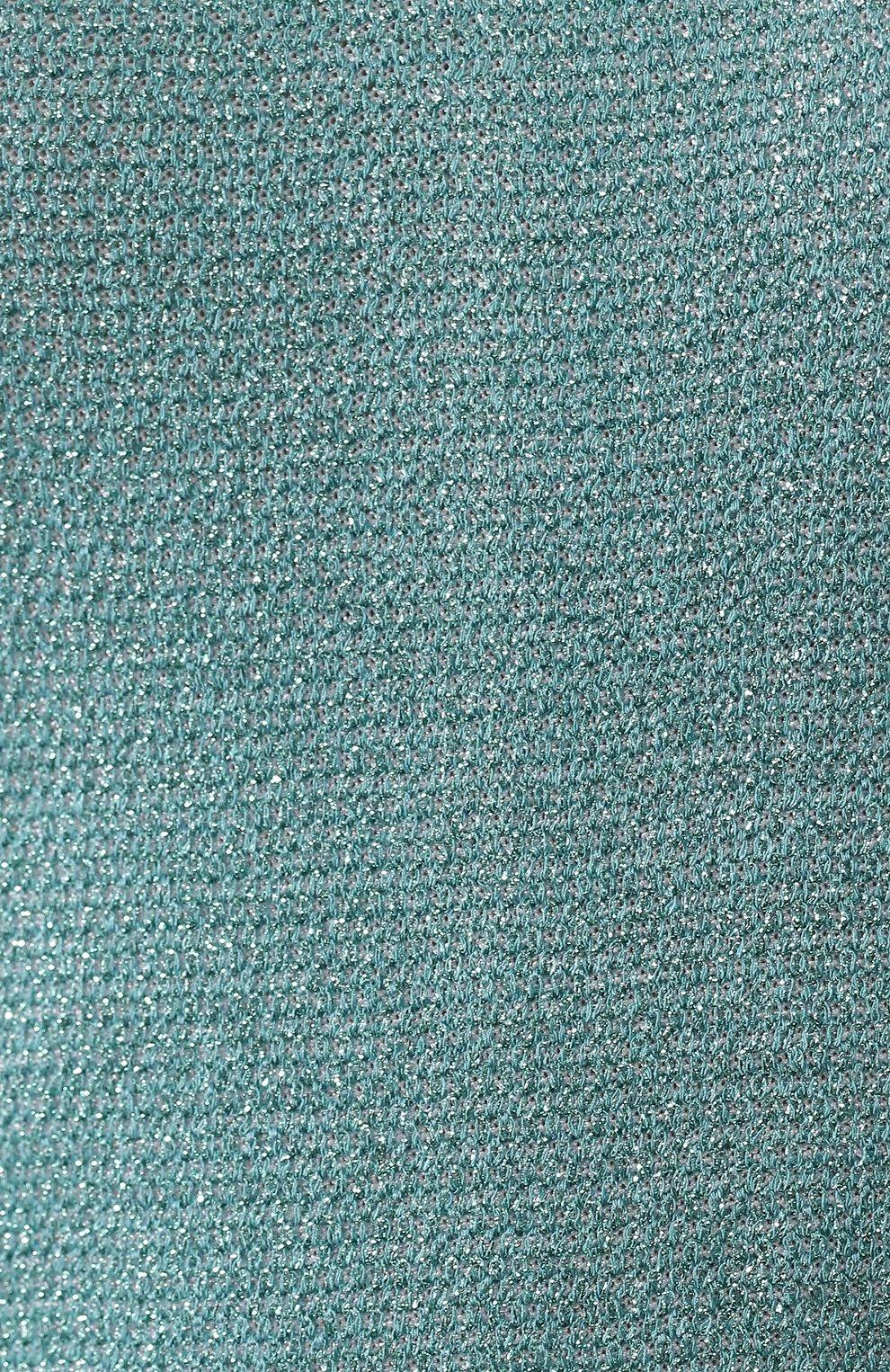 Платье из вискозы St. John бирюзовое | Фото №5