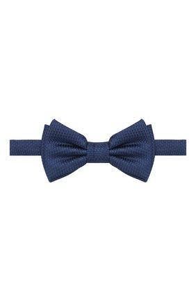 Мужской шелковый галстук-бабочка BOSS синего цвета, арт. 50412293   Фото 1