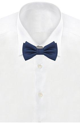 Мужской шелковый галстук-бабочка BOSS синего цвета, арт. 50412293   Фото 2