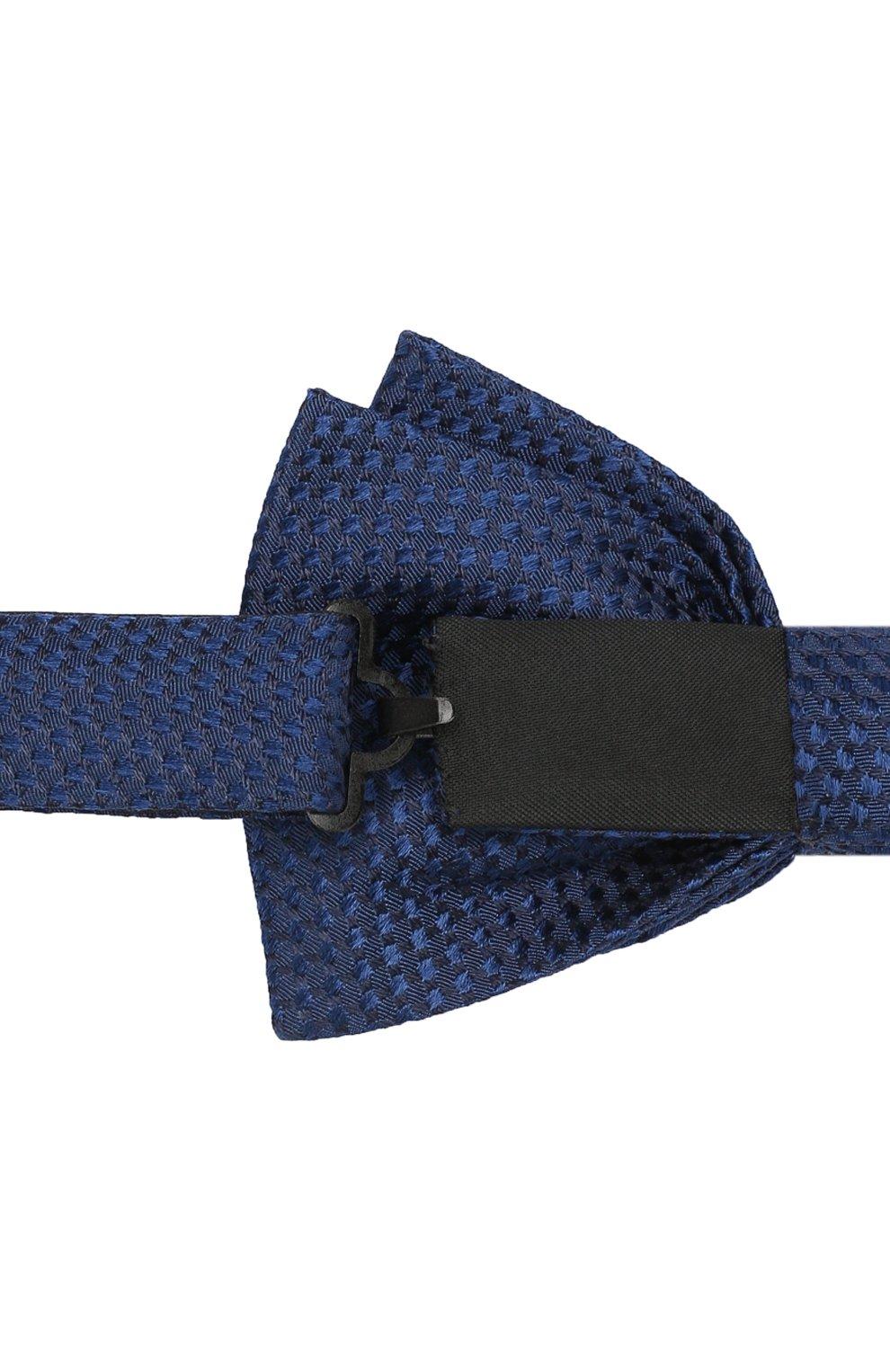Мужской шелковый галстук-бабочка BOSS синего цвета, арт. 50412293   Фото 3