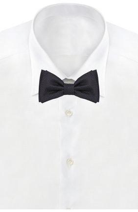 Мужской шелковый галстук-бабочка BOSS темно-синего цвета, арт. 50412293   Фото 2