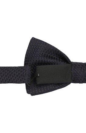 Мужской шелковый галстук-бабочка BOSS темно-синего цвета, арт. 50412293   Фото 3