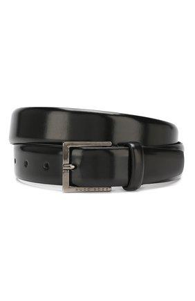 Мужской кожаный ремень BOSS черного цвета, арт. 50408122 | Фото 1