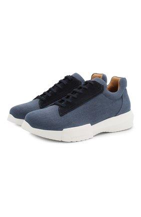 Мужские текстильные кроссовки GIORGIO ARMANI синего цвета, арт. X2X070/XL925 | Фото 1