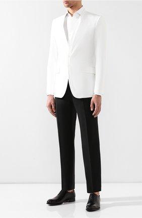 Мужской шерстяные брюки BRIONI черного цвета, арт. RPL240/PZA00/M0ENA | Фото 2