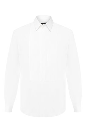 Мужская хлопковая сорочка GIORGIO ARMANI белого цвета, арт. 9SGCCZ5R/TZ265 | Фото 1
