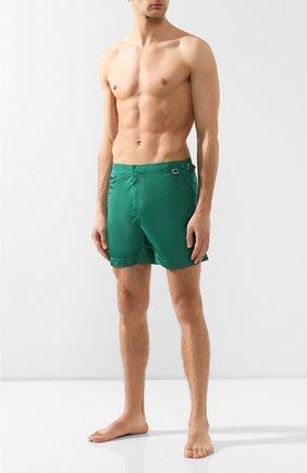 Детского плавки-шорты RALPH LAUREN зеленого цвета, арт. 790743432   Фото 2