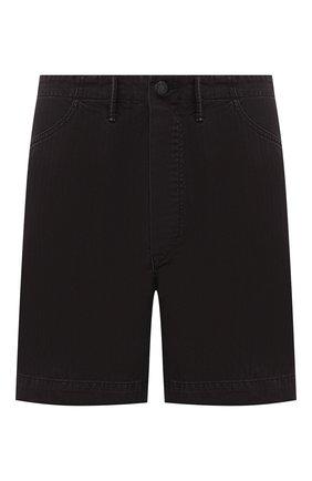 Мужские хлопковые шорты RRL черного цвета, арт. 782726015 | Фото 1