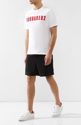 Мужские хлопковые шорты RRL черного цвета, арт. 782726015 | Фото 2