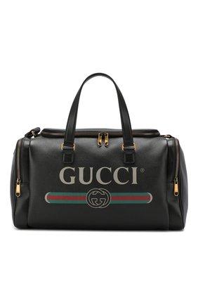 Кожаная дорожная сумка Gucci Print | Фото №1
