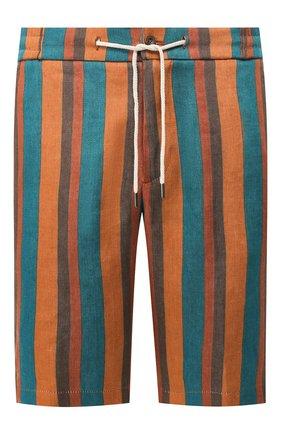 Мужские шорты из смеси льна и хлопка ANDREA CAMPAGNA светло-коричневого цвета, арт. SPIAGGIA SH0RT/LM1059 | Фото 1