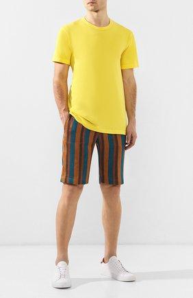 Мужские шорты из смеси льна и хлопка ANDREA CAMPAGNA светло-коричневого цвета, арт. SPIAGGIA SH0RT/LM1059 | Фото 2