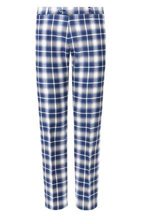 Мужской хлопковые брюки ANDREA CAMPAGNA синего цвета, арт. ZIP/1 WHITE/SB1520   Фото 1