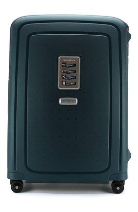 Женский дорожный чемодан s'cure dlx medium SAMSONITE зеленого цвета, арт. U44-04001 | Фото 1