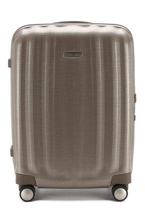 Женский дорожный чемодан lite cube SAMSONITE светло-бежевого цвета, арт. 33V-05004 | Фото 1