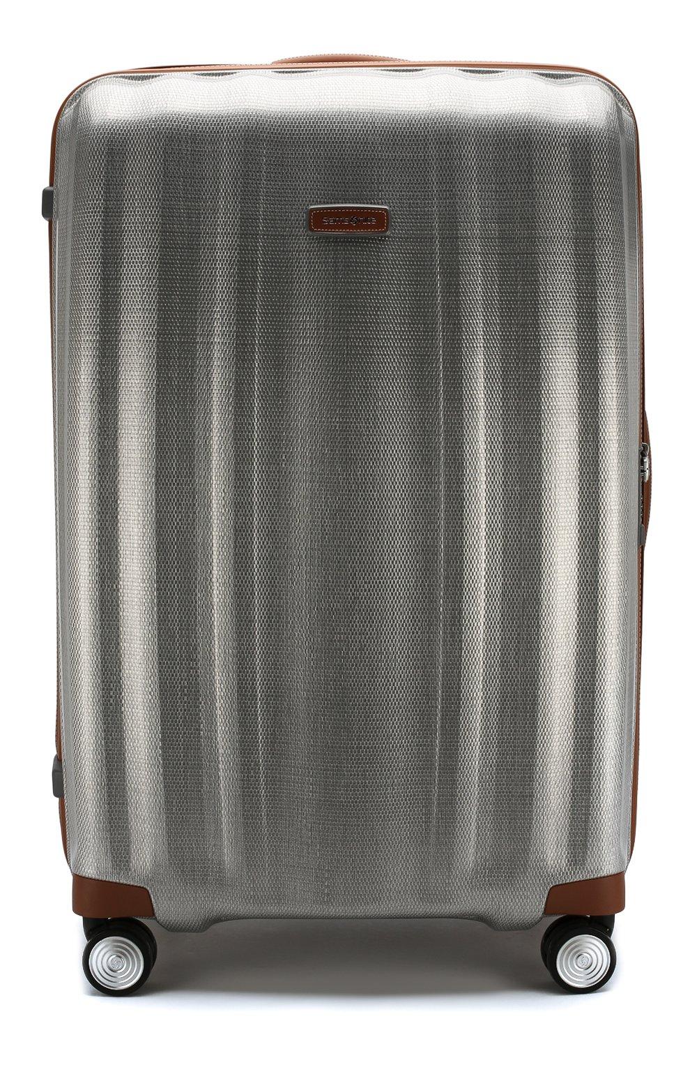 Женский дорожный чемодан lite cube dlx extra large SAMSONITE серебряного цвета, арт. 82V-08005   Фото 1 (Статус проверки: Проверено, Проверена категория; Ограничения доставки: oversized; Размер: large)