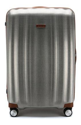 Женский дорожный чемодан lite cube dlx extra large SAMSONITE серебряного цвета, арт. 82V-08005 | Фото 1