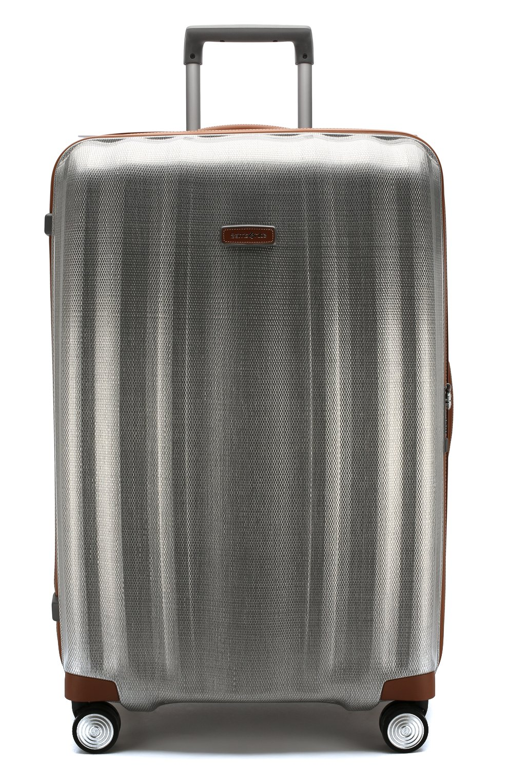 Женский дорожный чемодан lite cube dlx extra large SAMSONITE серебряного цвета, арт. 82V-08005   Фото 4 (Статус проверки: Проверено, Проверена категория; Ограничения доставки: oversized; Размер: large)