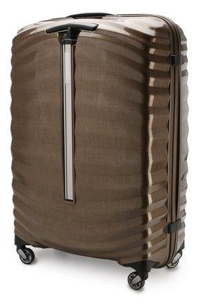Женский дорожный чемодан lite-shock large SAMSONITE темно-бежевого цвета, арт. 98V-05003 | Фото 2