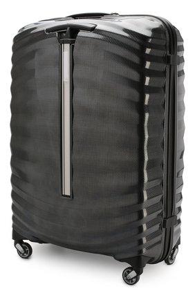 Женский дорожный чемодан lite-shock large SAMSONITE черного цвета, арт. 98V-09003 | Фото 2