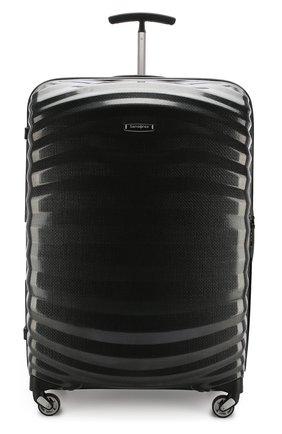Женский дорожный чемодан lite-shock large SAMSONITE черного цвета, арт. 98V-09003 | Фото 4 (Статус проверки: Проверено, Проверена категория; Ограничения доставки: oversized; Размер: large)