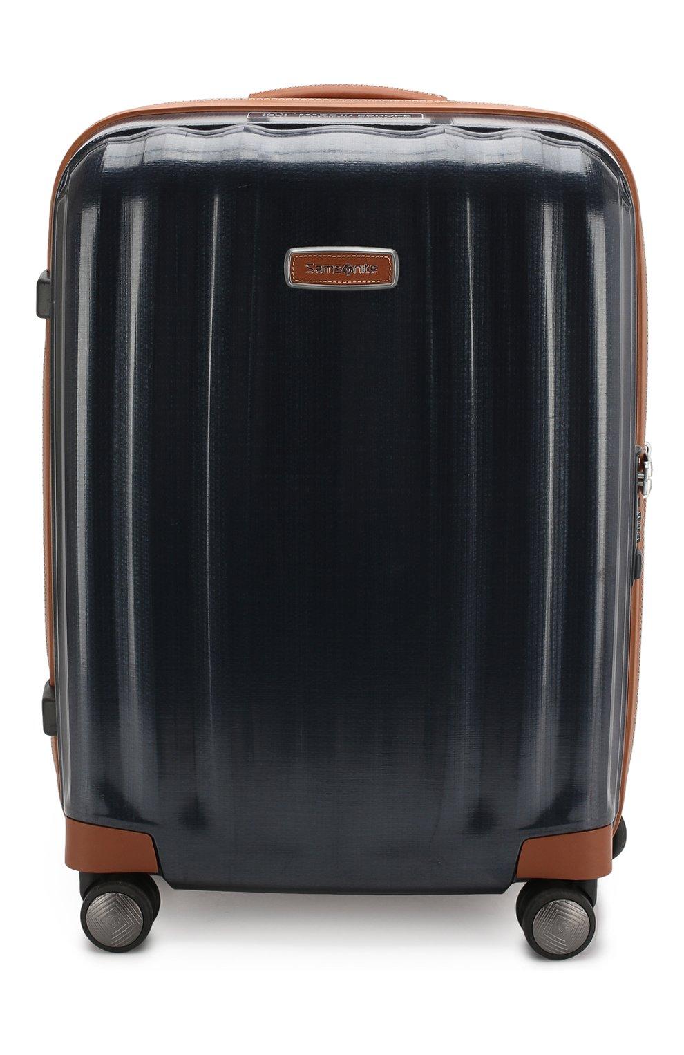 Женский дорожный чемодан lite cube dlx SAMSONITE синего цвета, арт. 82V-01002 | Фото 1 (Статус проверки: Проверено, Проверена категория; Ограничения доставки: oversized; Размер: large)