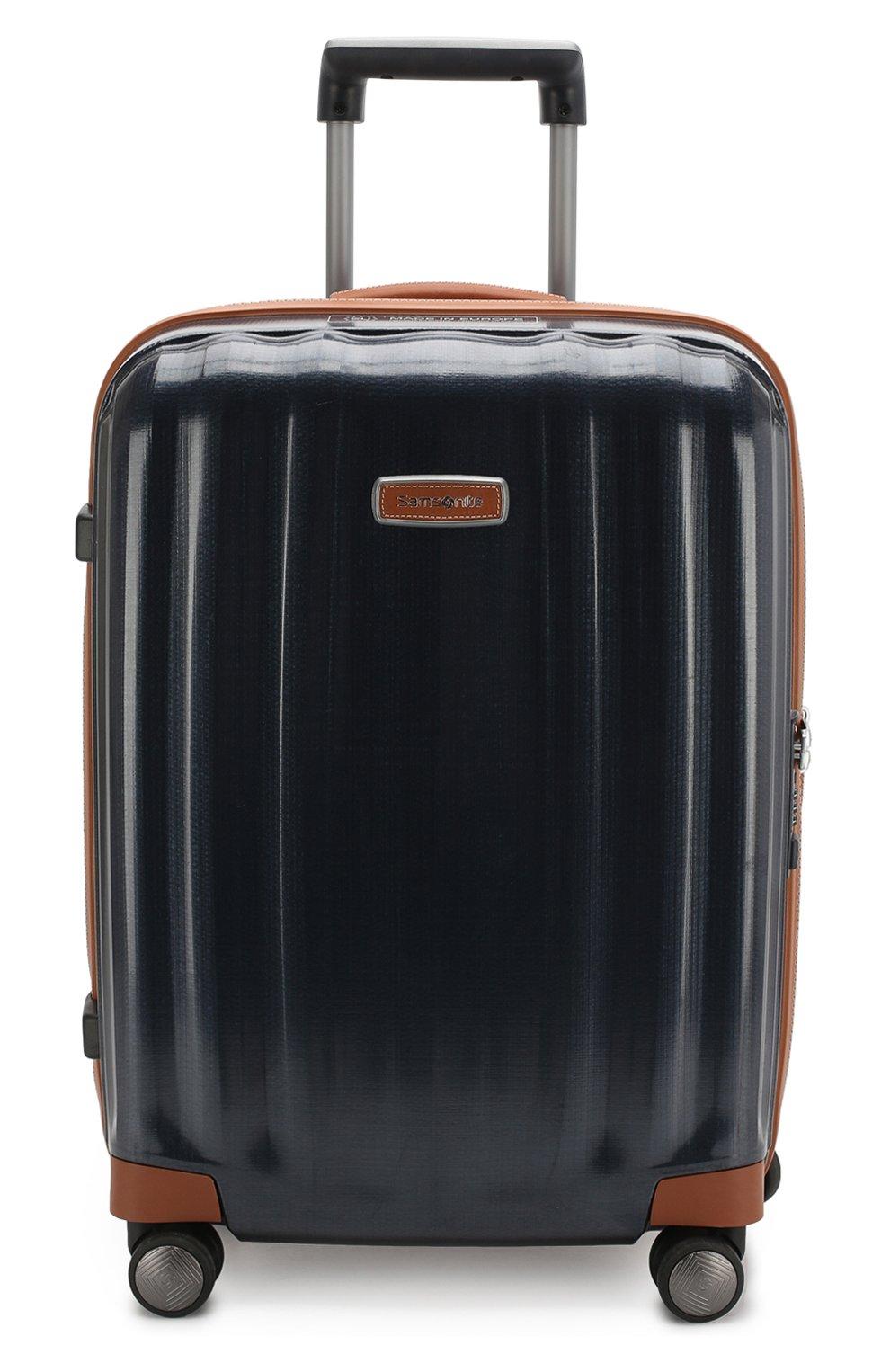 Женский дорожный чемодан lite cube dlx SAMSONITE синего цвета, арт. 82V-01002 | Фото 4 (Статус проверки: Проверено, Проверена категория; Ограничения доставки: oversized; Размер: large)