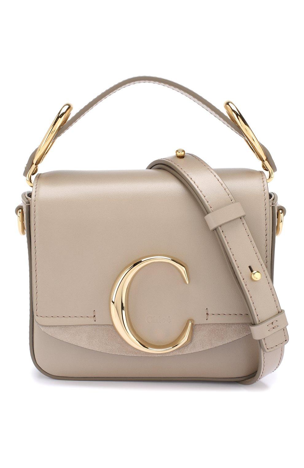 81798ade8291 Женская сумка chloé c mini CHLOÉ серая цвета — купить за 79950 руб ...