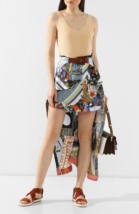 Женские замшевые сандалии lauren CHLOÉ светло-коричневого цвета, арт. CHC19U19118 | Фото 2