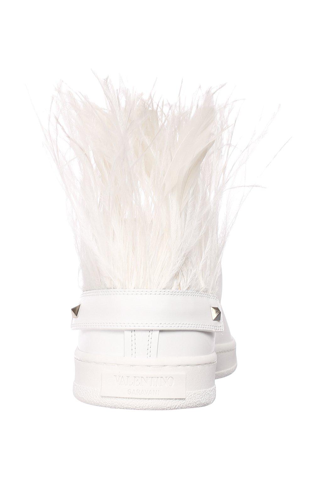Кожаные кеды Valentino Garavani Go Logo Valentino белые | Фото №7
