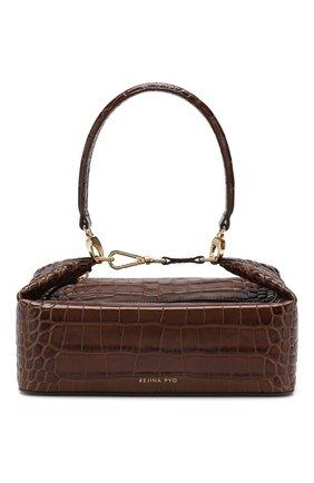 Женская сумка olivia REJINA PYO коричневого цвета, арт. B26/LEATHER EMB0SS CR0C   Фото 1