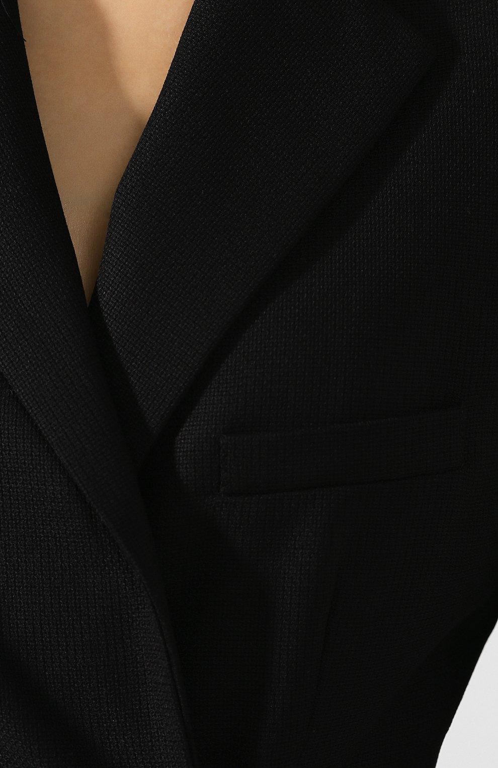 Шерстяной жакет Jacquemus черный   Фото №5