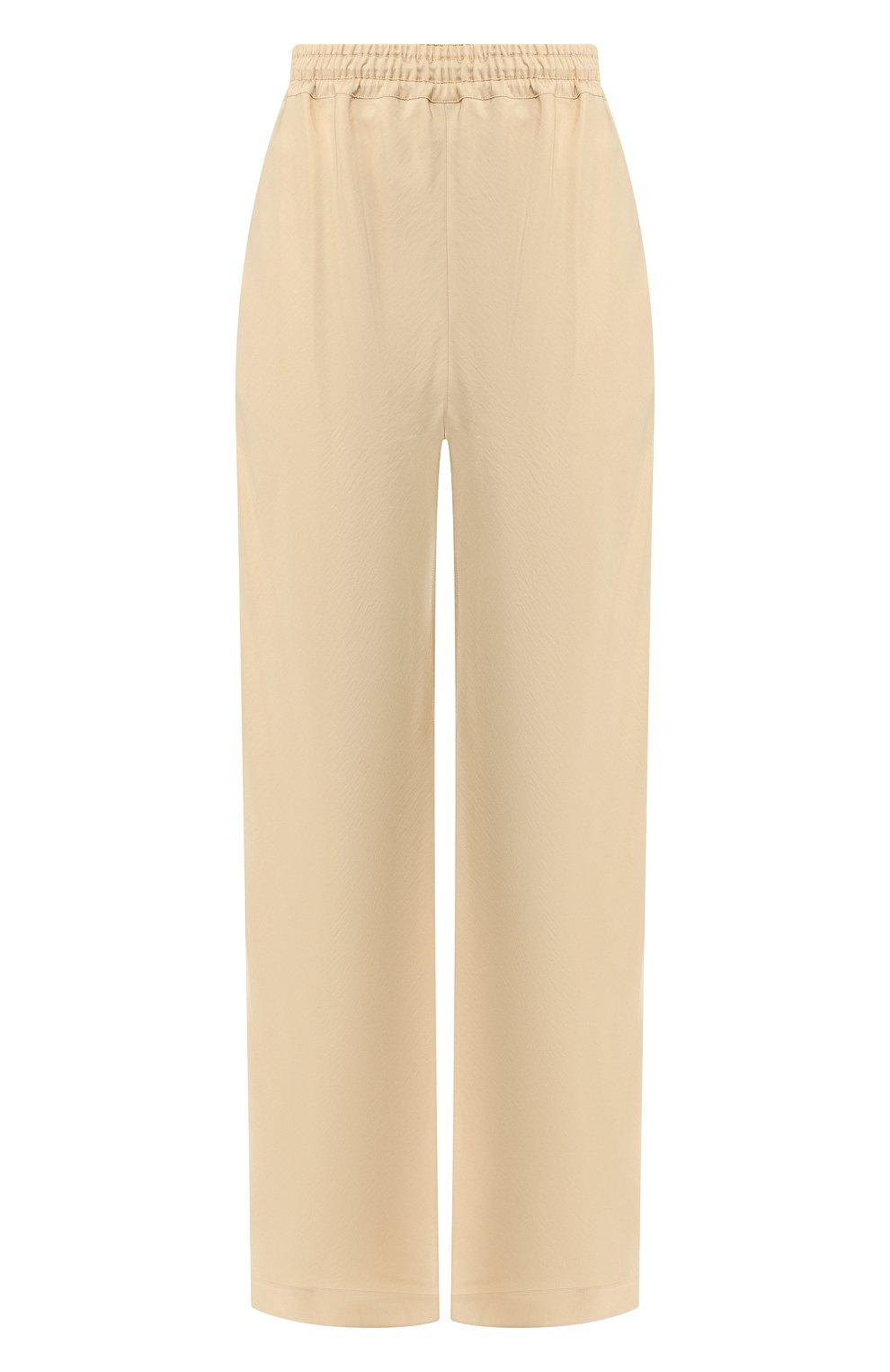 a0dcdc29ef31 Женские бежевые брюки из смеси вискозы и шелка CHLOÉ — купить за ...