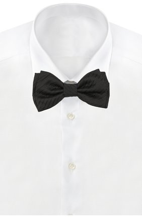Мужской шелковый галстук-бабочка BOSS черного цвета, арт. 50412410 | Фото 2