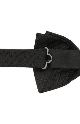 Мужской шелковый галстук-бабочка BOSS черного цвета, арт. 50412410 | Фото 3