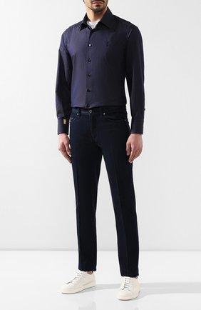 Мужская хлопковая рубашка  BILLIONAIRE темно-синего цвета, арт. B19C MRP0765 BTE004N | Фото 2