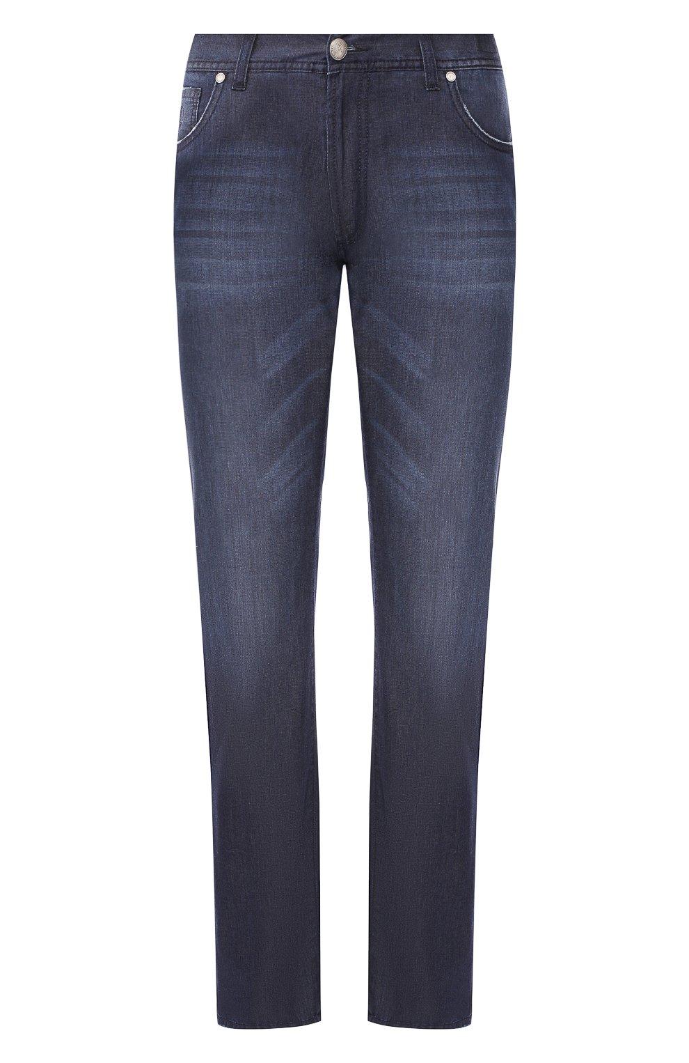 Мужские джинсы ANDREA CAMPAGNA темно-синего цвета, арт. AC102/T84.W953   Фото 1