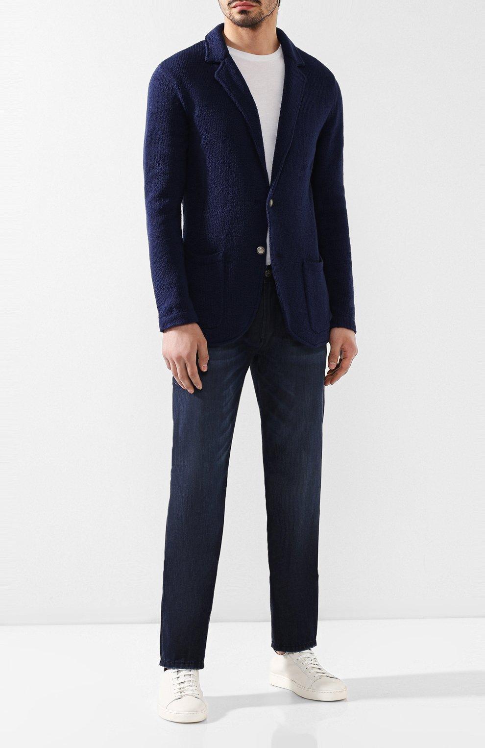 Мужские джинсы ANDREA CAMPAGNA темно-синего цвета, арт. AC102/T84.W953   Фото 2