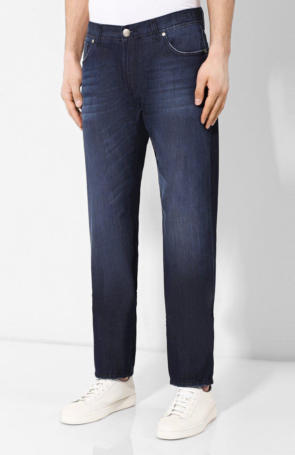 Мужские джинсы ANDREA CAMPAGNA темно-синего цвета, арт. AC102/T84.W953   Фото 3