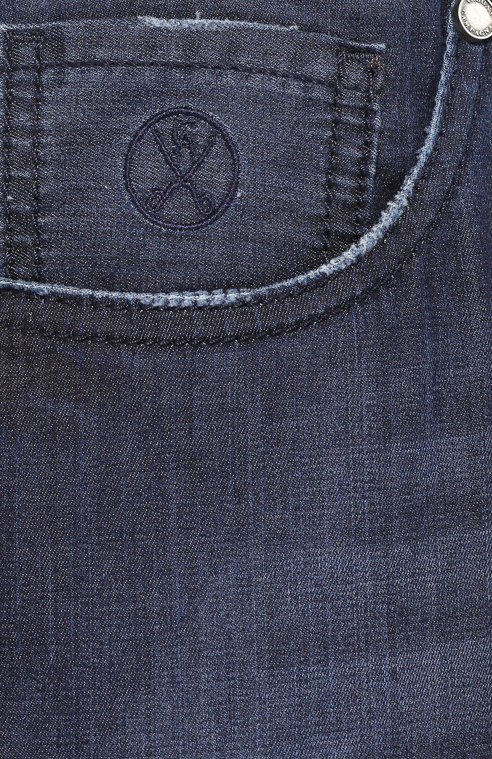 Мужские джинсы ANDREA CAMPAGNA темно-синего цвета, арт. AC102/T84.W953   Фото 5