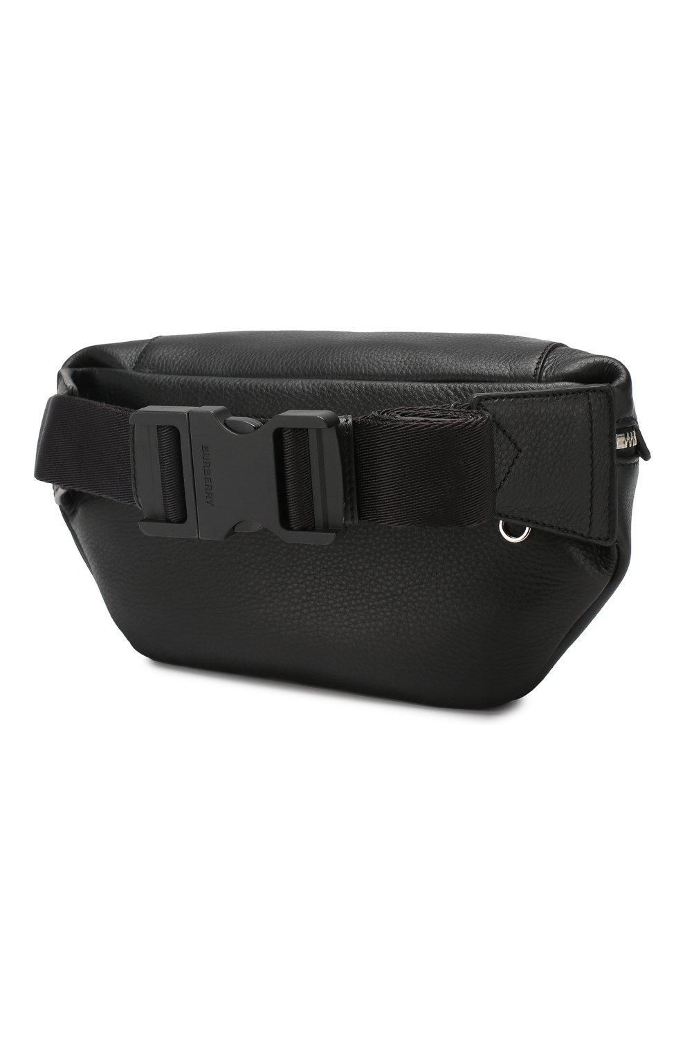 Кожаная поясная сумка | Фото №3