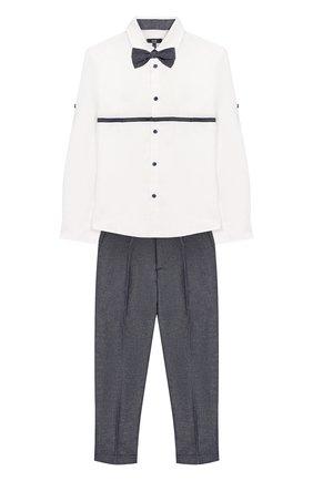 Комплект из брюк и рубашки с гастуком-бабочкой | Фото №1