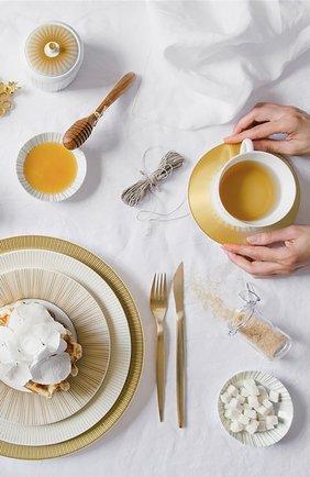 Мужского сервировочная тарелка sol BERNARDAUD золотого цвета, арт. 1655/2134 | Фото 2