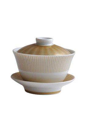 Китайская чашка с блюдцем и крышкой Sol | Фото №1