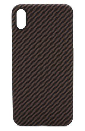 Мужской чехол для iphone xs max PITAKA коричневого цвета, арт. KI9006XM | Фото 1